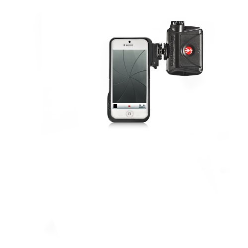 Manfrotto MKLKLYP5 Klyp5 & ML240 custodia per iPhone5 con Luce da 24 LED per Video, Plastica, Nero