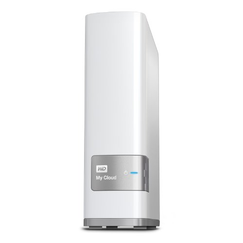 WD My Cloud 3 TB Personal Cloud Storage, NAS, Gigabit Ethernet, Processore Dual-Core, Porta di Espansione USB 3.0, DLNA 1.5 & UPnP Certified, Bianco