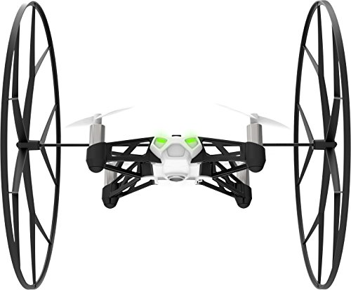 Parrot Minidrones Rolling Spider Drone, Bianco/Nero