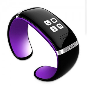 Bluetooth Intelligente braccialetto Orologio Da Polso/ Bluetooth Smart Wristband Bracelet Watch Per IOS Android Samsung iPhone HTC (Purple)