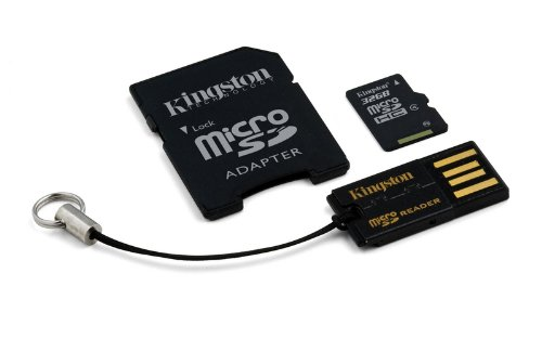 Kingston Mobility Kit Scheda micro-SDHC/SDXC 32GB Classe 4, con Adattatore SD e USB