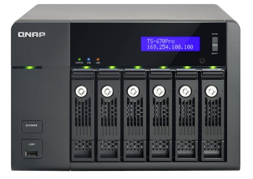 QNAP TS-670 Pro 0/6HDD Tower NAS, Nero