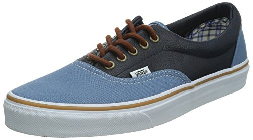 Vans ERA, Low-Top Sneaker unisex adulto, Blu (Blau ((Leather Qtr)Co FH0)), 46