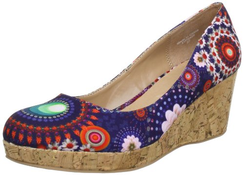 Desigual Pumps Mary 1 31PS429, Scarpe con la zeppa donna, Blu (Blau (Blue 2000)), 36