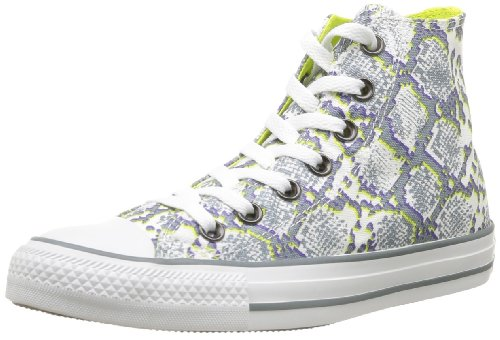 Converse, Chuck Taylor All Star Snake Print, Sneaker, Unisex - adulto, Bianco (Blanc/Gris/Citronelle), 38