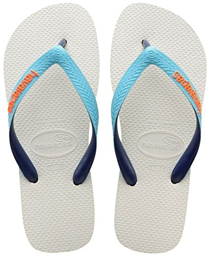 Havaianas Top Mix Infradito, Unisex Adulto, Bianco (white/blue/navy 2763), 39/40 EU (BR 37/38)