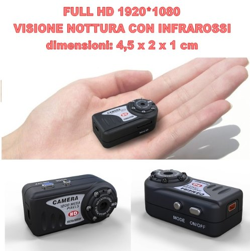 Mini Telecamera spia nascosta con registrazione MiniDV HD 960P Foto audio e video