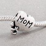 Pandora Style Baby Hugging Mom Charm Bead