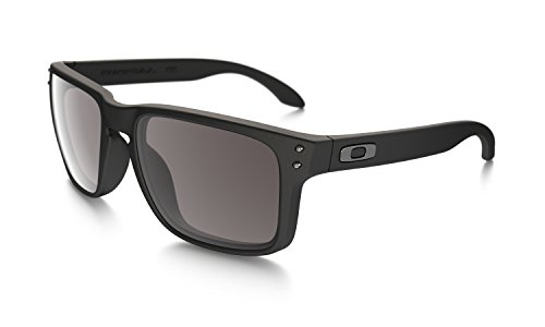 Oakley - Occhiali da sole Holbrook Rettangolari, Uomo, Matte Black/Warm Grey (S3)