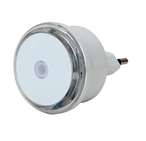 Electraline 58307 2 x Luce Notturna a LED con Sensore Crepuscolare, Bianco/Trasparente