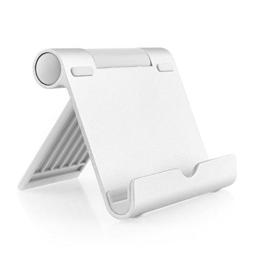 Aukey® Supporto Stativo di alluminio/Stand da tavolo per tutti i PC 4-10 pollici, tablet, E-reader e smartphone: Series iPad, Google Nexus 7/10/4, Samsung Galaxy Tab P5100 P3100 N8000, Sony Xperia Tablet ZS ecc.