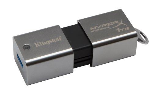 Kingston DTHXP30/1TB Chiavetta USB, 1000 GB, USB 3.0, Velocità Lettura 240 MB/s, Velocità Scrittura 160 MB/s, Argento