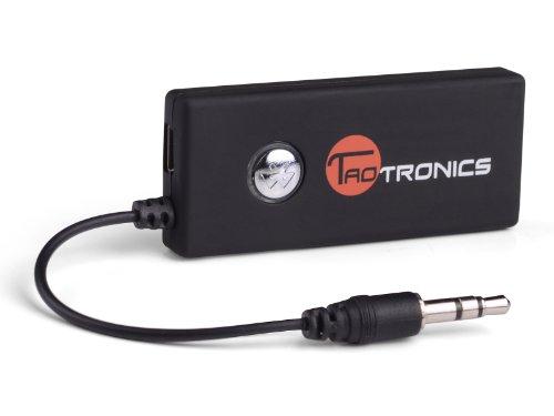 TaoTronics® TT-BA01 Trasmettitore Portatile Wireless Bluetooth Musica Stereo (Non è un Ricevitore Bluetooth) per i Dispositivi Audio 3.5mm (iPod, MP3/MP4, TV, Kindle Fire, Media Players...)