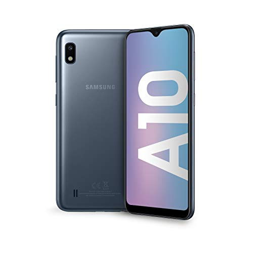 "Samsung Galaxy A10 Display 6.2"", 32 GB Espandibili, RAM 2 GB, Batteria 3400 mAh, 4G, Dual SIM Smartphone, Android 9 Pie, (2019) [Versione Italiana], Black"