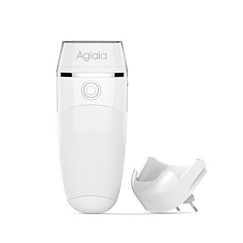 Aglaia® Lampada LED Notturna da parete con Torcia Elettrica portatile, Sensore Luce, Ricaricabile Wireless, 4 in 1 Multi-funzione Lampada LED. (Bianco)