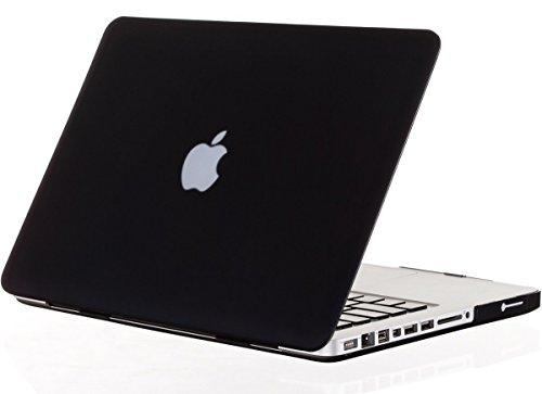 """Custodia rigida effetto gomma per MacBook Pro da 13,3"""" modello A1278 ( con lettore DVD ) (**non adatto ai Macbook Pro 13,3"""" con Retina Display**) , colore: Nero (Con una pelle europea tastiera trasparente GRATIS)"""
