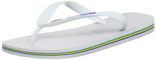 Havaianas, Brasil Logo, Infradito, Unisex adulto, Bianco (White), 45-46 BR