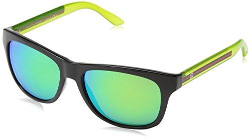 Gucci - Occhiali da Sole GG 3709/S Z9, Unisex adulto, Lenti: Green Multilaye, Montatura: Shbk Trlime (CHQ), 54
