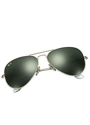 Ray-Ban Aviator, Occhiali da Sole Unisex Adulto, Oro (L0205 Gold), 58 mm