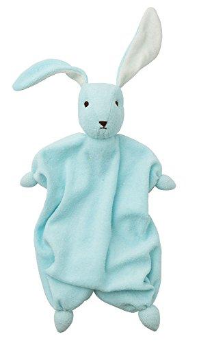 Peppa Straccetto-Doudou Coniglietto Tino in Cotone Biologico (Azzurro/Ecru)