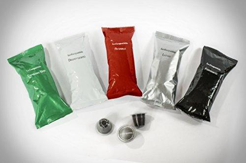 LaCompatibile NESPRESSO(R) Capsule di caffè Compatibili Qualità Fortissimo - 100 capsule