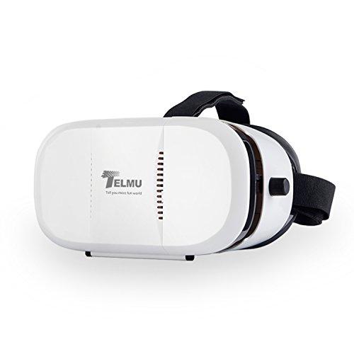 Telmu Occhiali 3D Realtà Virtuale VR Headset Focali Portatile e Allievo Distanza Occhiali Regolabili per i Film 3D e Giochi per iPhone 6S / 6 plus / 6 / 5s / 5c / 5 Samsung e Altri Telefoni Intelligenti