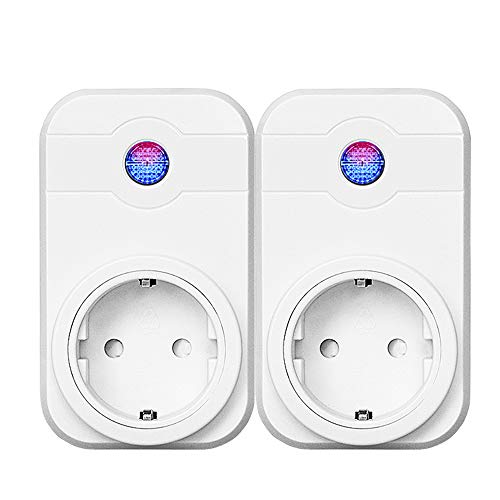 Presa Intelligente WiFi, Presa Smart Socket, Presa Multipla WiF Compatibile con Smartphone iOS Android App,Amazon Smart Plug EU, Prese smart Temporizzata Wireless Accesso Remoto - 2pack