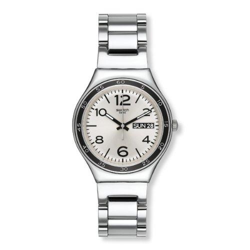 Swatch - Orologio da polso, analogico al quarzo, acciaio inox