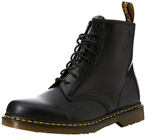 Dr. Martens 1460 Smooth, Stivali Unisex - Adulto, Nero (1460 Smooth 59 Last Black), 39 EU