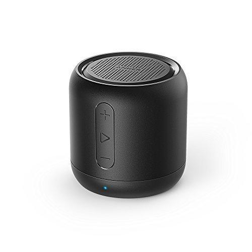 Anker Altoparlante Bluetooth Tascabile SoundCore Mini - Speaker Senza Fili Super-Portatile con Bassi Potenti, Tempo di Riproduzione di 15 Ore, Raggio di Connessione Bluetooth di 20 Metri, Radio FM, Microfono Incorporato e Guida Vocale per iPhone, iPad, Samsung, Huawei, Honor, Nexus, Laptop e Altri