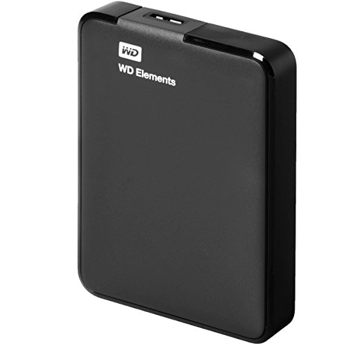 WD Elements Portable 2TB USB 3.0, Hard Disk ad Alta Capacità, Archiviazione Extra, Backup Locale e su Cloud, Nero