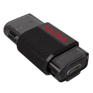 SanDisk SDDD-016G-G46 Cruzer Pen Drive, Ultra Dual USB 2.0, Micro USB 2.0, 16 GB, Nero
