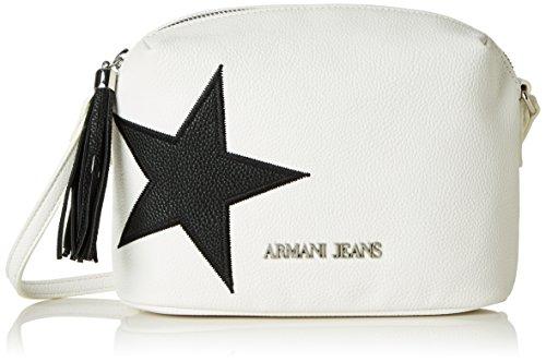 Armani Jeans9221877p760 - Borsa baguette Donna, bianco (Bianco (Bianco 00010)), 9x16x22 cm (B x H x T)