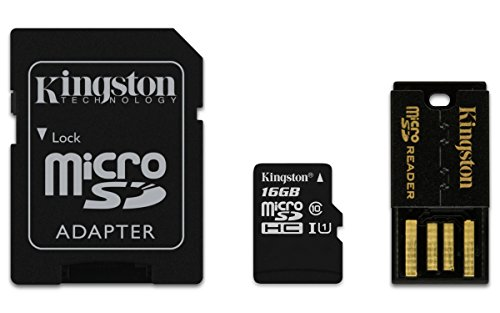 Kingston Mobility Kit Scheda micro-SDHC/SDXC 16GB Classe 10, con Adattatore SD e USB