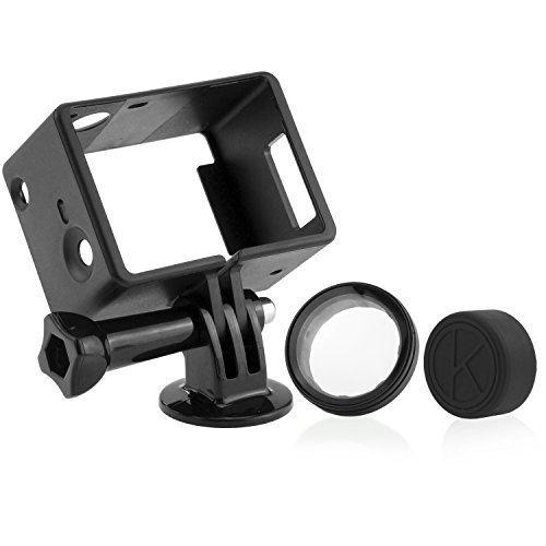 Telaio BacPac per GoPro CamKix - Compatibile con GoPro Hero 4 Black e Silver 3 e 3+ / USB, HDMI e Slot SD Totalmente Accessibili - Custodia Leggera e Compatta per la tua Action Camera - Da utilizzare con LCD e Batteria BacPac - 1 Vite a Galletto / 1 Montatura Cavalletto / 1 Copriobiettivo in Gomma / 1 Filtro Protettivo UV per Obiettivo inclusi