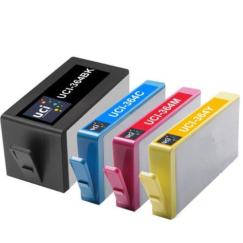 UCI 4 cartucce d'inchiostro Rigenerate sostituiscono HP CON CHIP 364 ( Non-Originale )