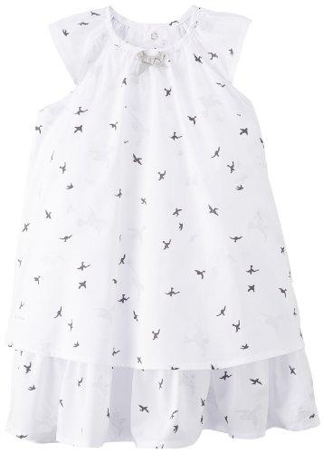 Animal - Vestito stampato con stampa, bambina, Bianco (Blanc), 24 mesi