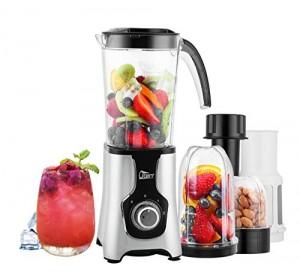 Mini Frullatore Smoothie, Uten 4-in-1 Blender Juicer con 2 Bottiglia Portatile Funzione Pulse, 22.000 Giri/Minuto, 220W, Senza BPA