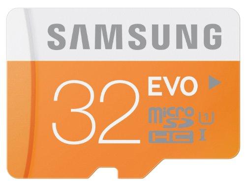 Samsung MB-MP32D/EU Scheda Micro SD HC EVO, UHS-1, Classe 10, 32GB, Bianco/Arancio