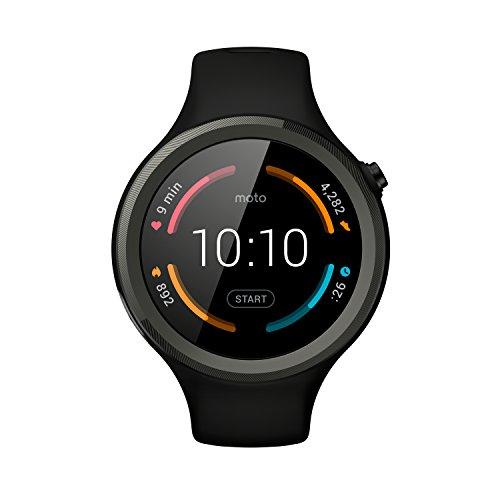 Motorola Moto 360 Sport (2a generazione), Smartwatch, Nero