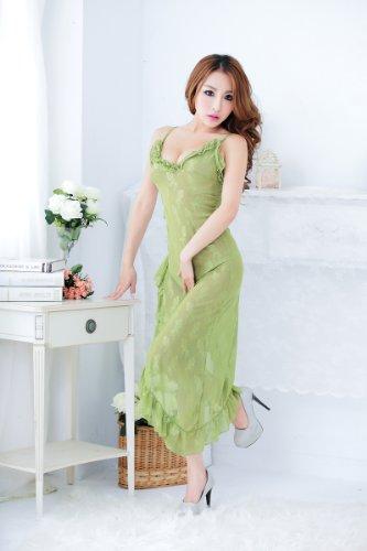 1 Set Pulchra Donna Sexy Lingerie Taglia Unica Verde Pizzo Vestito