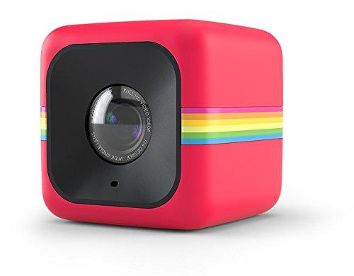 Polaroid Cube+ 1440p Mini Lifestyle Action Camera con Wi-Wi e Stabilizzatore d'Immagine, Rosso