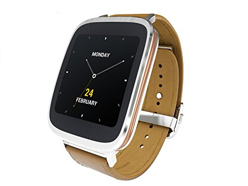 Asus Zenwatch WI500Q, Smartwatch 4,14cm Touchscreen, Qualcomm Snapdragon APQ8026 400, 4GB, Cinturino marrone in pelle [importato da Unione Europea]