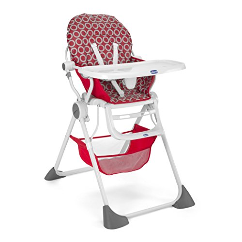 Chicco 07079341930000 Pocket Lunch Seggiolone, Rosso, Red Wave