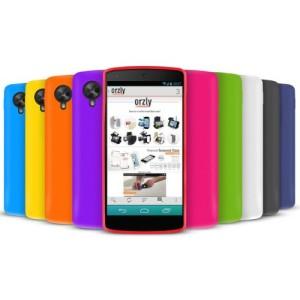 Orzly SoftSkin 10 PACK PORPORA ROSSO LUCE BLU VERDE SCURO BLU VERDE GIALLO NERO BIANCO ARANCIONE ROSA Armatura protettiva in silicone / Custodia / Skin / Cover / Shell per LG Google Nexus 5 (2013)