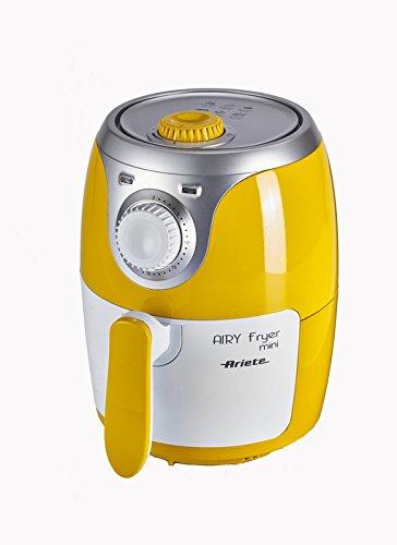 Ariete 4615 Airy Fryer Mini – Friggitrice ad aria senza olio, 1000 W, Capacità 2 Litri, 400 gr di patatine, Facile da pulire, Giallo