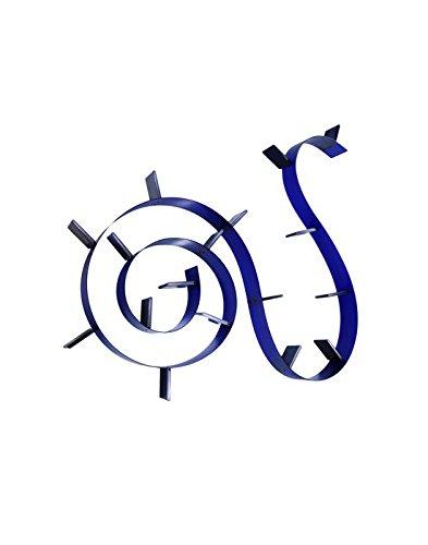 Kartell 8003C4 Bookworm - Scaffale per libri a 7 reggilibri, Colore: Blu cobalto
