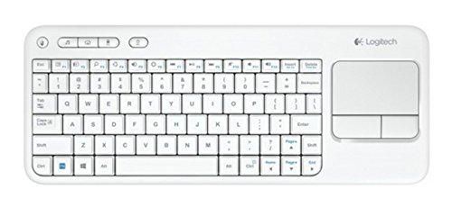 Logitech Tastiera Wireless Touch K400 con touch-pad integrato, layout italiano QWERTY, Bianco