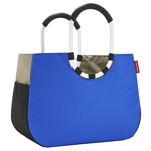 Reisenthel, Borsa per la spesa Donna con manici rotondi, motivo a patchwork, Blu (Blau), 62 cm