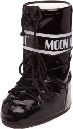 Moon Boot, Moon Boot Vinil, Stivali, Unisex- adulto, (Nero/Bianco 002), 42/44